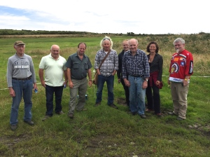 Today we had a very important visit from members of Goleen Community Council and the Mizen Partnership. Here they are in front of the old Football Field.