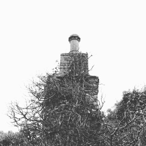 Black and white old chimney