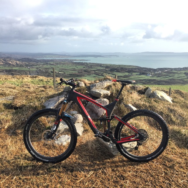 mountain bike with sea view