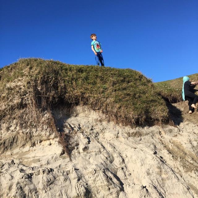 boy in dunes