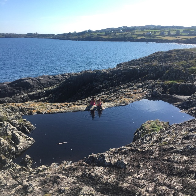 A Rockpool to swim in on the cliffs of Ballydivlin Bay.